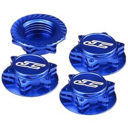 Fin 1/8 Serrated Light-Weight Wheel Nut Blue (4)