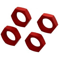 Aluminum Wheel Nut 24mm Red 4