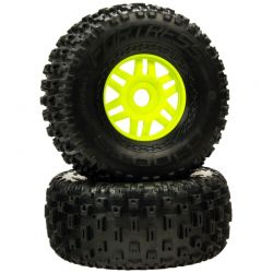 dBoots 'Fortress' Tyre Set Glued Green Pair