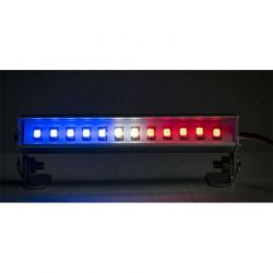 LED Light Bar - 3.6 - Police Lights (Red White and Blue light