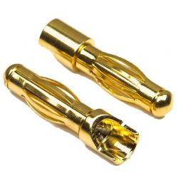 Male Gold Plated Connector 1 Pr