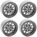Stamped Steel 1.7 Beadlock Wagon Wheels (Silver)