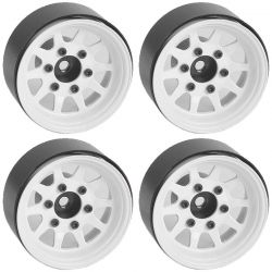 OEM 6-Lug Stamped Steel 1.55 Beadlock Wheels (White)