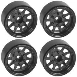 OEM 6-Lug Stamped Steel 1.55 Beadlock Wheels (Black)