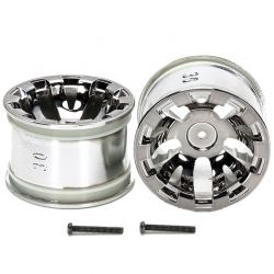 T3-01 Wheels for Rear Wide Semi-Slick Tires Chrome Plated 2 Piec