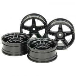 Medium-Narrow Twin 5-Spoke Wheels (24mm Width Offset +2)(Black)