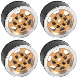 Six-Spoke 1.55 Internal Beadlock Wheels (Gold)