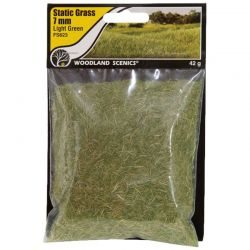 Static Grass Light Green 7mm