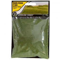 Static Grass Medium Green 2m