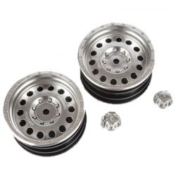 1.9 Method MR307 Hole Wheel Satin Silver 2 pieces