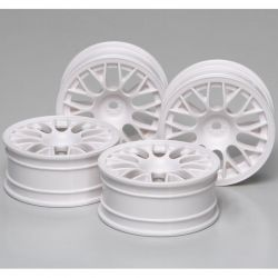 RC 24mm Mesh Wheels-4 pieces - White/+2