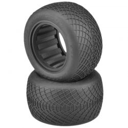 Ellipse Black Compound Truck Tires for 2.2 Stadium F/R Truck Wh