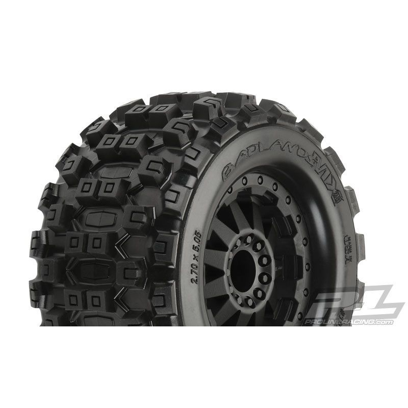 Badlands MX28 2.8 Pre-Mounted F-11 Black Wheels 2 : Rear EST EST