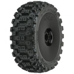 Badlands MX M2 1:8 Buggy Mounted Black Wheels FRONT/REAR