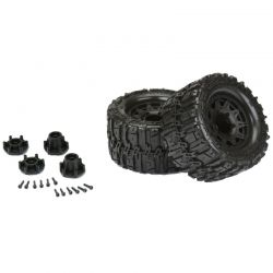 Pro-Line Trencher Hp 2.8 All Terrain Belted Truck Tires Mounted On Raid B [10168-10]