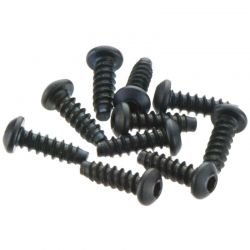 M2.6x8mm Hex Socket Tapping Button Head (Black) (10pcs)