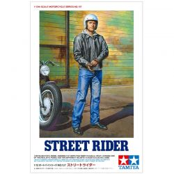 1/12 Street Motorcycle Rider Plastic Model Kit