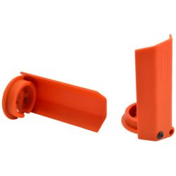Orange Shock Shaft Guards for Traxxas X-Maxx