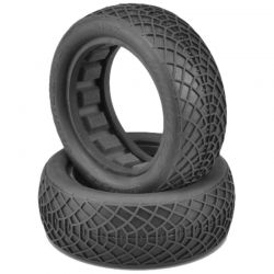 Ellipse Green Compound Tires Fits 2.2 Buggy Front Wheel