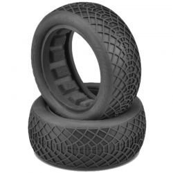 Ellipse Blue Compound Tires Fits 2.2 Buggy 4WD Front Wheel