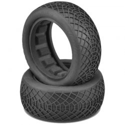 Ellipse Green Compound Tires Fits 2.2 Buggy 4WD Front Wheel