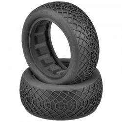Ellipse Silver Compound Tires Fits 2.2 Buggy 4WD Front Wheel