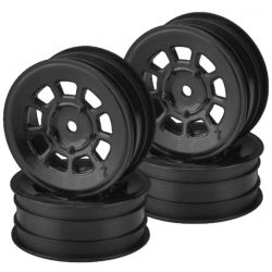 9 shot 2.2 front wheel black - 4pc