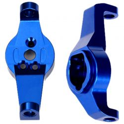 Caster Blocks - 6061-T6 Aluminum (Blue-Anodized) - Left and Righ