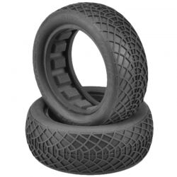 Ellipse Gold Compound Tires Fits 2.2 Buggy Front Wheel