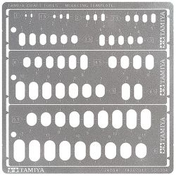 Modeling Template Rounded Rectangles 1-6Mm