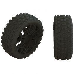 AR550057 2HO Tire Set Glued Black 2
