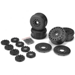 Cheetah 83mm speed-run wheel-12 & 17mm hex adapt-Blk