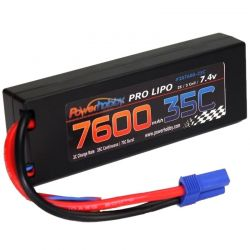 Powerhobby 7600mah 7.4v 2s 35c LiPo Battery with Hardwired Ec5 Connector [2S760035CEC5HCS]