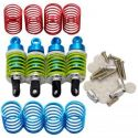 Blue Aluminum FMJ 50mm Shock Set W/Spings