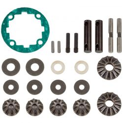 Associated Rival Mt10 Front and Rear Differential Rebuild Kit [25810]