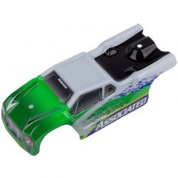 Associated TR28 Body white and green [21444]