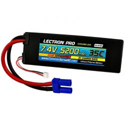 Lectron Pro 7.4V 5200mAh 35C LiPo Battery with EC5 Connector