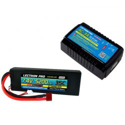 Common Sense RC AC-3A Charger + 1 x 7.4V 5200mah 35C w/ T-Plug Type Connector [PP-029]