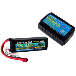Common Sense RC AC-3A Charger + 1 x 11.1V 5200mah 50C w/ T-Plug Type Connector [PP-033]