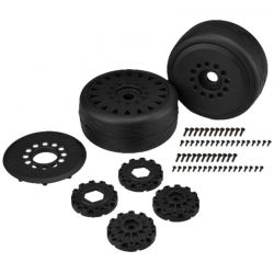 JConcepts Speed Fangs-platinum compound/belted/Mounted Black [3113-39]