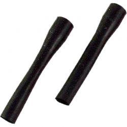 Hot Racing Black Super Silicone Shock Boots (2) [RDP34201]