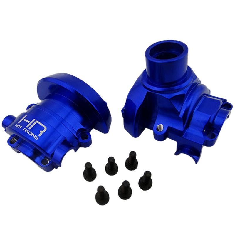 Blue Aluminum Diff Housing Case