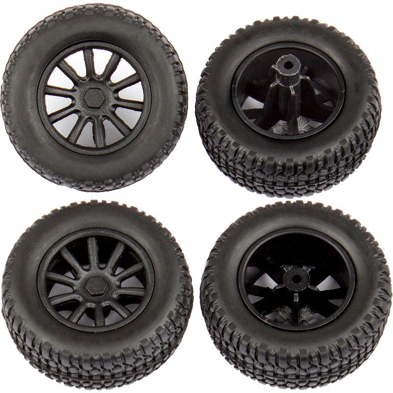 Associated SC28 Wheels and Tires mounted [21426]