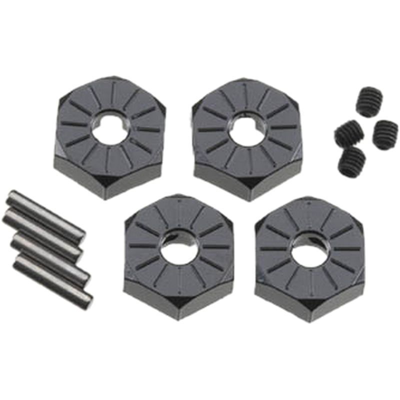 Axial Narrow 12mm Aluminum Hub - Black (4pcs)