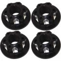 Scale Look Dc M4 Black Serrated Nuts