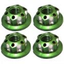 Green Aluminum M4 Serrated Wheel Nuts
