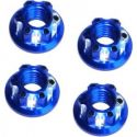 Blue Aluminum M5 Serrated Flange Wheel Nuts