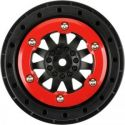 ProTrac F-11 2.2 inch /3.0 inch Red/Black Bead-Lock Wheels