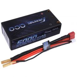 5000mAh 7.4V 60C 2S2P HardCase LiPo Battery Shorty Pack 4mm