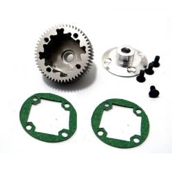 Hard Anodized Aluminum Differential Gear and Cover B4/T4/SC10